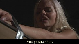 Sexy blonde Zafira hard whipped and used for fuck
