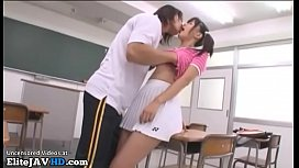 Jav adorable college girl has sex in classroom