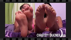 Your cock is going right in this chastity device xxx video