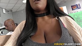 Busty Ebony Rachel Raxxx Takes White Gloryhole Cock