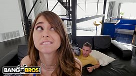 BANGBROS - Young Riley Reid Sneaks Into Her House And Step Cousin Mick Blue Catches Her