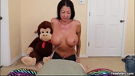 Milf Titty Fucks Young Cock Till It Gets Milked