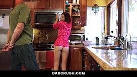 DadCrush Petite StepDaughter Fucked In Kitchen