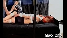 Petite gal becomes bounded slave in sexy bondage scene