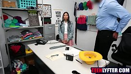 Cop fucks asian teen for shoplifting