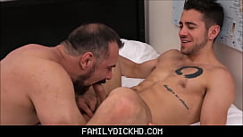 Father And Son Fuck After Mom Leaves