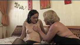 Lesbian Mature Trio Anal Strap On