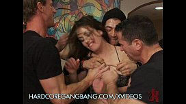 Hardcore Gangbang of Sarah Shevon brother sister fuck