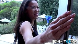 Prope ex Hot Asian real estate agent tricked to fuck