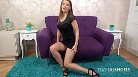 Sybil Masturbates After Stripping Out Of Her Sexy Black Dress