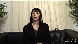 Big boobed french milf hard analyzed and facialized in threesome for her casting