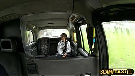Horny teen Lucie gets her pussy fucked by the cab driver for a free ride