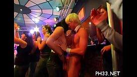 Hard core bang in night club