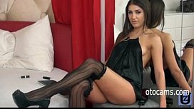 Beautiful brunnete masturbating on webcam otocamscom