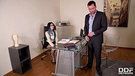 Kinky office fantasies give anal lover Megan Inky chills of taboo pleasures