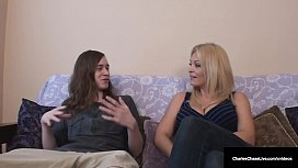 Horny Cougar Charlee Chase Bangs s.'_s School Mate!