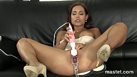 Slutty czech nympho spreads her tight cunt to the extreme xxx image