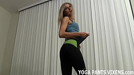 Let me finish my yoga and I will help you cum JOI