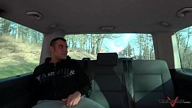 Takevan Whore caught on the streeet fuck stranger in driving van for free