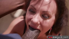 Elegant eurobabe gets her holes plowed by bbc