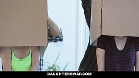 DaughterSwap Hot Naive Teens Seduces Tricked Into Fucking