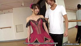 Taking advantage of a busty Asian ballerina