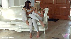 Sensual lesbian scene by Sapphix with Christen Courtney and Alexis Brill Book