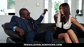 TeensLoveBlackCocks - Brunette Babe (Rilynn Rae) Fucks Big Black Cock For Cash