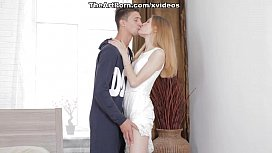 Erotic ass of teenager Eva is filled with hard rod