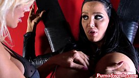 Euro Babe Puma Swede Disciplines Amy With A Strap On