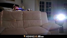 Hot MILF Syren De Mer And Step Daughter Adria Rae Movie Night