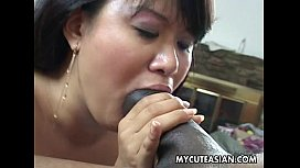 Black dude has a hot Asian chick to ravage www.cliphunter.com