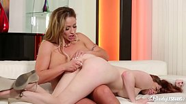 Busty Lesbians Eva Notty & Veronica Vain lick wet pussies all day long xnxx image