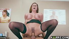 Horny Dr Ariella Ferrera examines a gaint cock