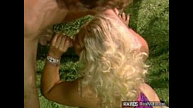 Blonde milf screwed after blowjob