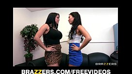 Two babes decide to settle their score with lube and a strap-on