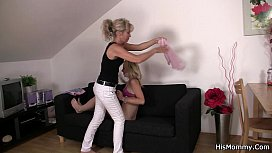 His mommy and teen toying pussy
