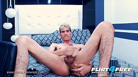 Evan Wells - Flirt4Free - Hunky Latino Twink Spreads Ass and Strokes Cock
