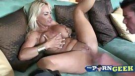 Tan Blonde MILF Holly