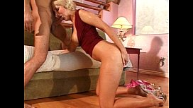 Blonde with short hair gets fucked