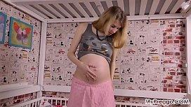 Pregnant Anetta Fucks Herself with a Vibrator!