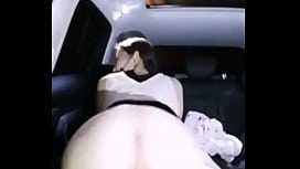 Chinese Cam Girl Car show