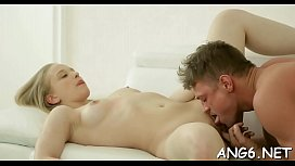 Raucous anal and beaver gratifying for cute babe