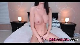 Sexy Busty Babe Dildo Playtime