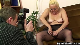 Taboo sex with very old blonde girlfriends m.