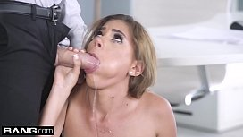 Glamkore - Petite Latina secretary gets fucked by her bosses