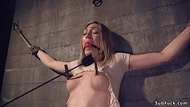 Dude tied up and anal fucked hot date