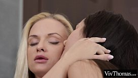 Sexy blonde and cute brunette eat each other'_s juicy pussy and tight ass