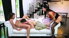 Stepmom gives pussy licking and control horny guy