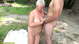 big ass chubby mom outdoor fucked by her toyboy